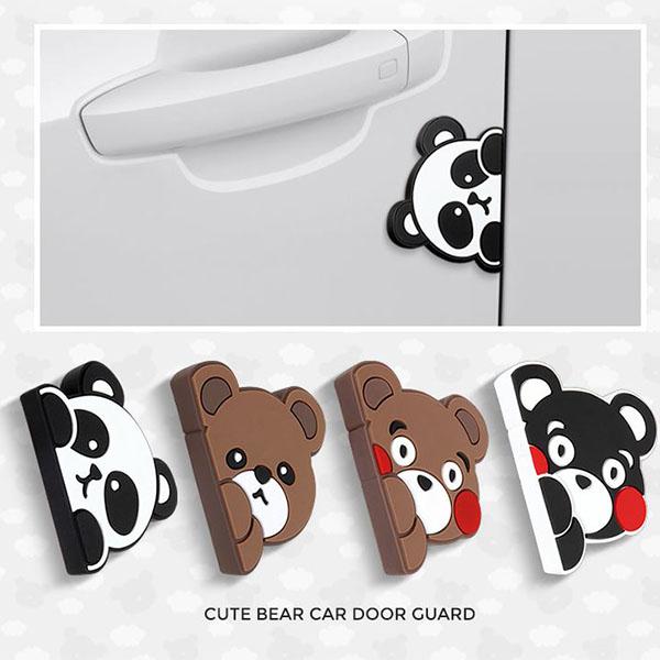 차량용 도어가드4P 귀여운곰돌이 문콕방지 도어가드, 1세트, 팬더