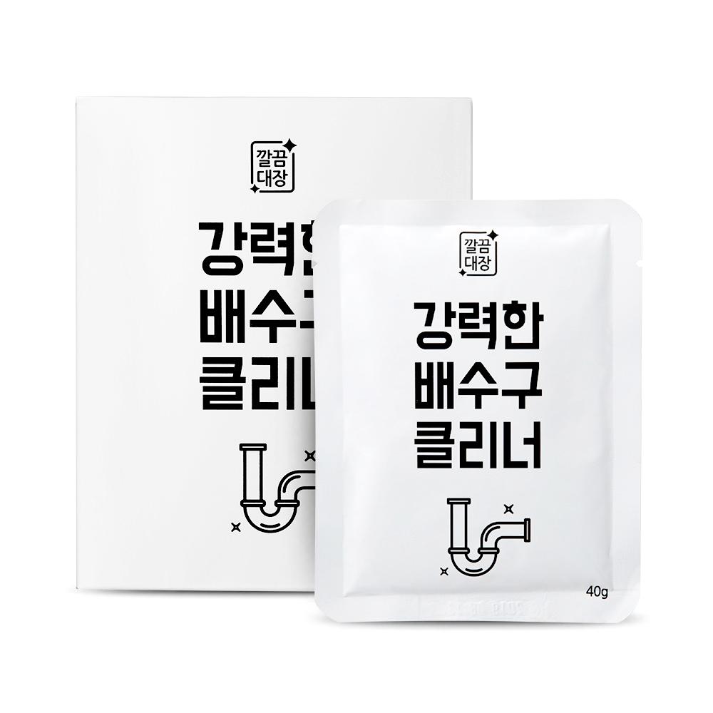 [깔끔대장] 강력한 배수구클리너(40g*4개입), 1세트, 40g