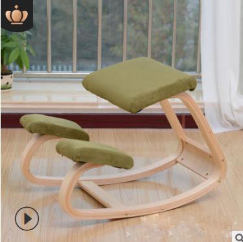 허리 척추 자세교정의자 컴퓨터의자 게이밍의자, 녹색 플란넬