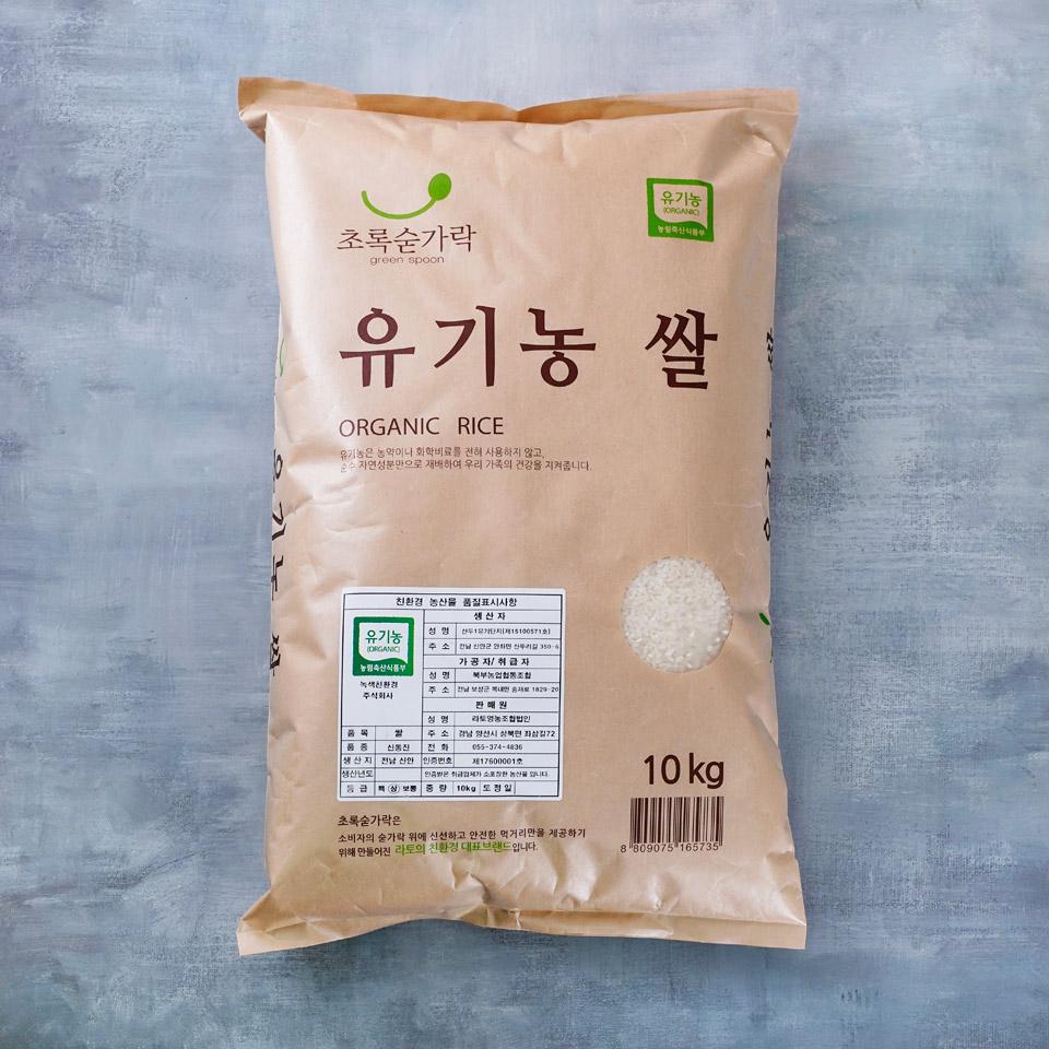 [메가마트]초록숟가락 유기농 쌀(국내산) 10kg, 1개, 유기농쌀 10kg