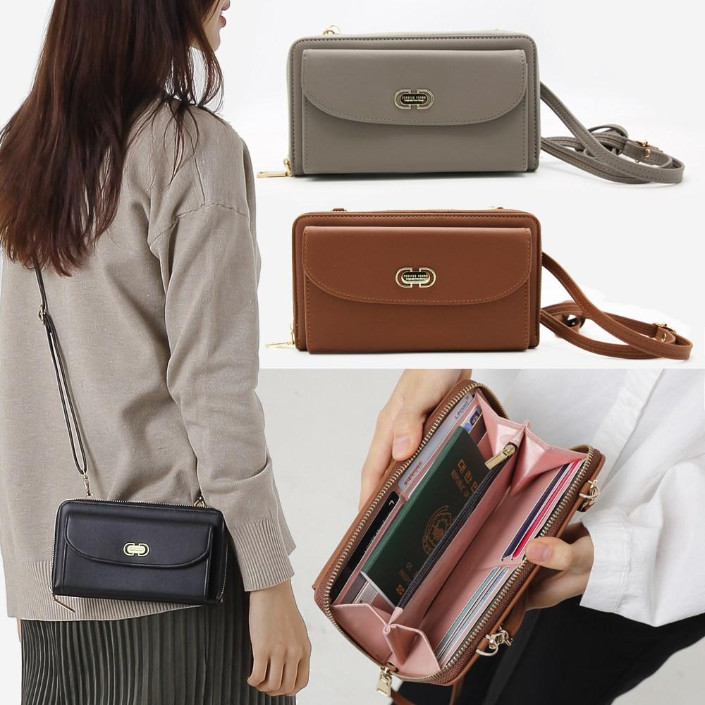 미쓰백 여성 지갑 미니 크로스백 디자인백 여성가방 휴대폰수납 핸드폰