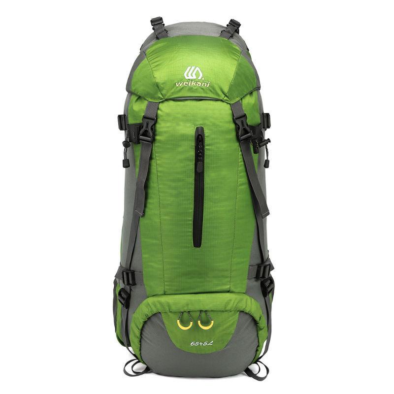 정품 공식 유 카 니 (WEIKANI) 등산 가방 대 용량 의 물 벼락 방지 여행 더 블 도 우미 외 운동 내 프레임 에 70L 녹색 을 짊 어 지고 있다., 상세페이지 참조