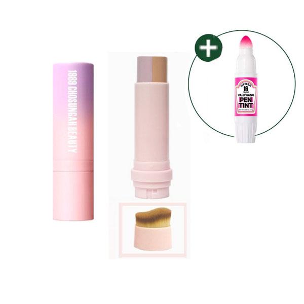 조성아뷰티 피치 톤 커버 스틱 파운데이션+발광틴트, 1개, 01 라이트피치+발광틴트증정