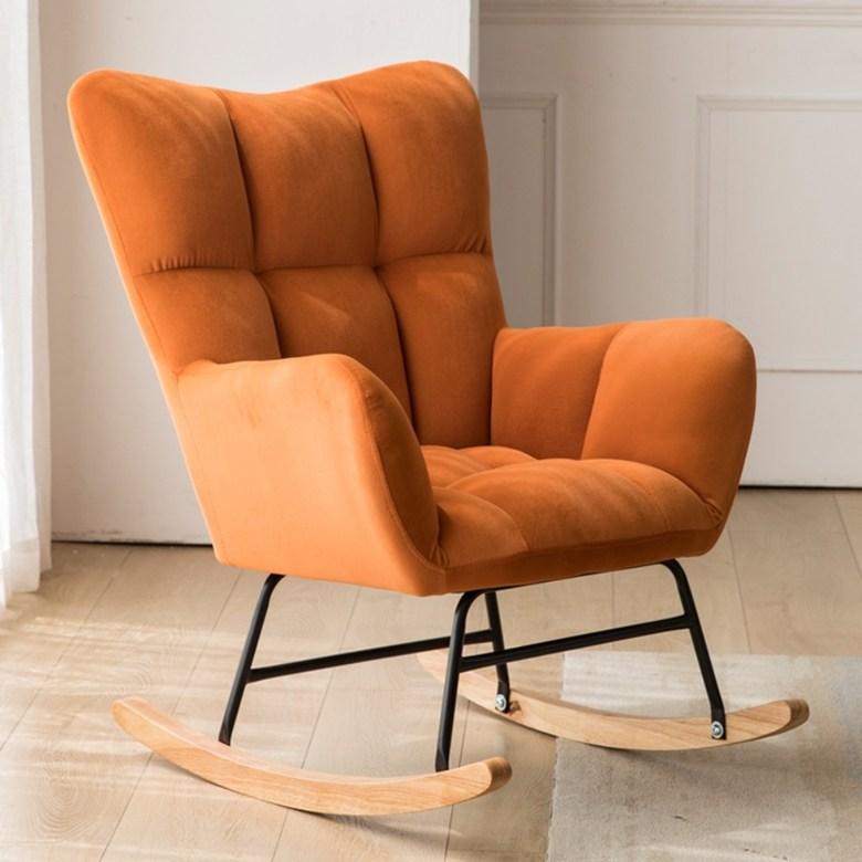 북유럽 발코니 흔들 의자 라운지 의자 홈 싱글 게으른 소파 의자 성인 낮잠 레저 흔들 의자, C