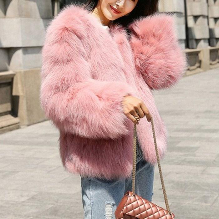 페이크퍼 겨울 이쁜 패션 퍼자켓 점퍼E02