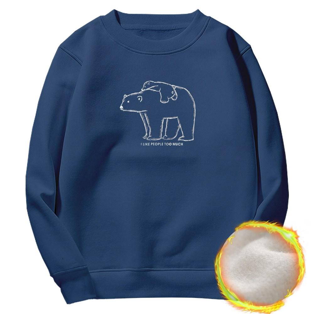 문컬렉션 남녀공용 기모맨투맨 북극곰 맨투맨
