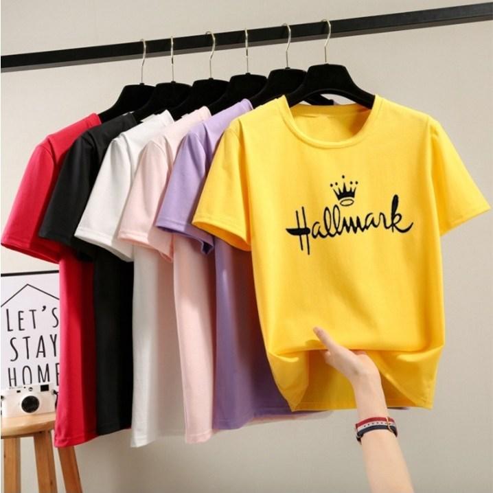 스타일아유 여성용 hallmark 반팔 티셔츠