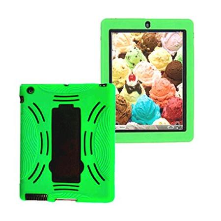 아이패드 4th 세대 3in1 Kids 케이스 적용모델 - 아이패드 md510llA mc769ll A mc979ll A A1397 A1395 A1, Green