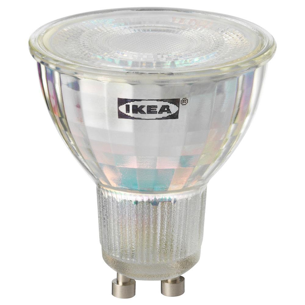 이케아 TRADFRI 트로드프리 LED전구 GU10 400루멘 무선밝기조절 화이트 스펙트럼, 1개, 백색