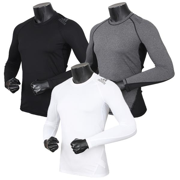 아디다스 알파스킨스포츠 긴팔 스포츠언더웨어 아디다스테크핏 기능성 긴팔티셔츠
