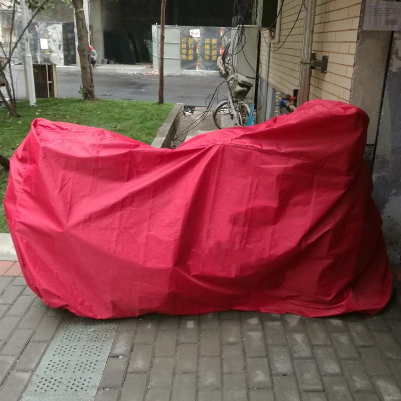 스쿠터커버 BMW차량 S1000RR라떼 G310RHP4K1300SR1200RF800R오토바이 재봉틀, C05-레드(가볍고부드러운 휴대용)비고 차종