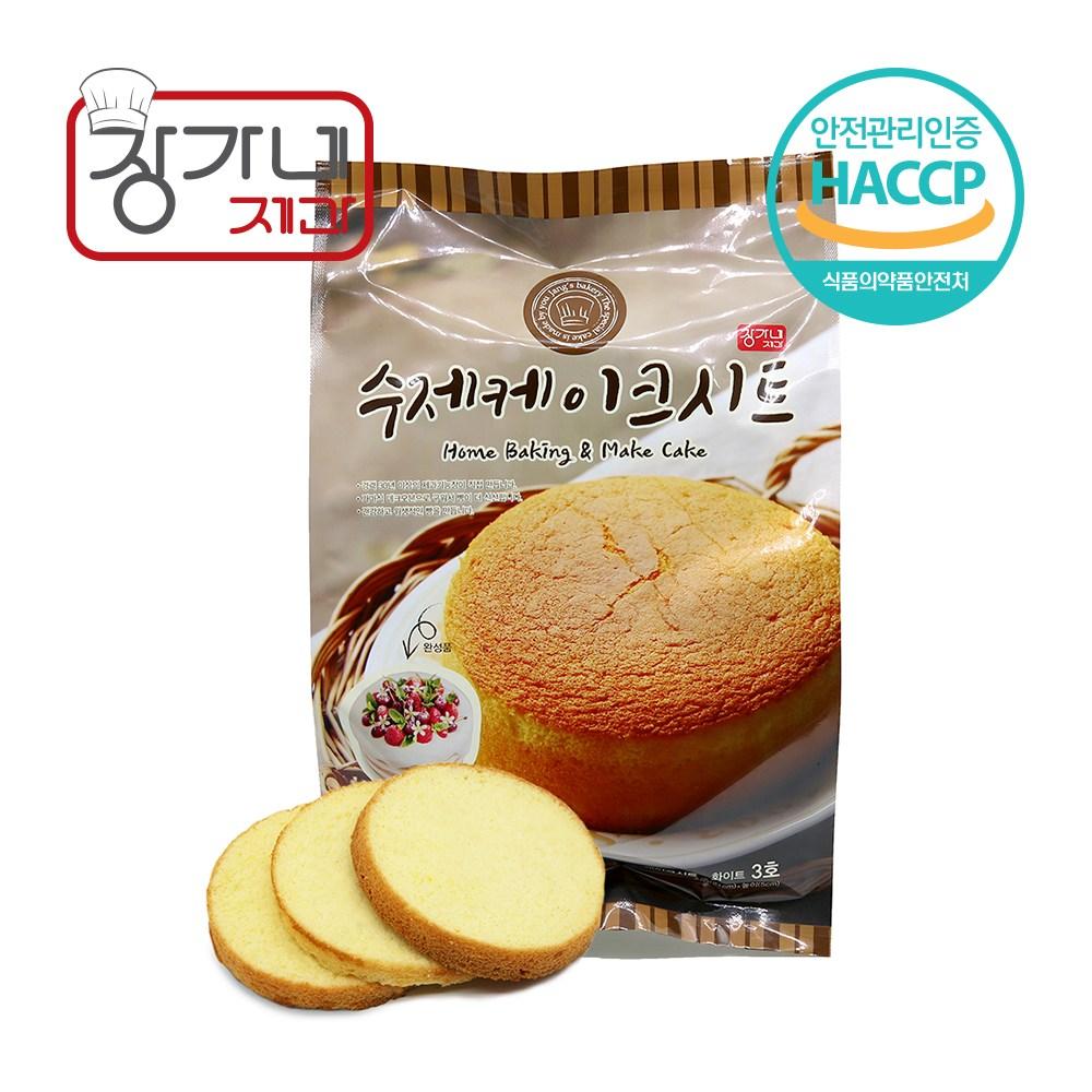 장가네제과 케익만들기재료 수제 케이크시트3호, 1Ea