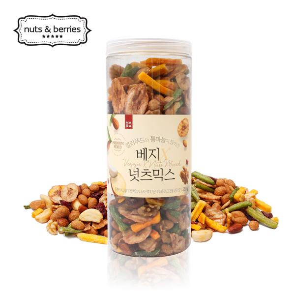 [넛츠앤베리스] 컬러푸드와 통마늘이 들어간 베지넛츠믹스 550g, 단품