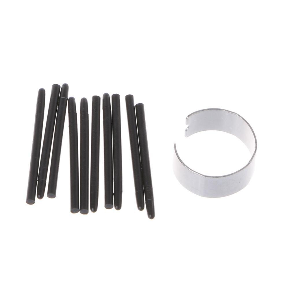 Wacom 드로잉 펜에 대 한 10 Pcs 그래픽 드로잉 패드 표준 펜 펜촉 스타일러스|태블릿 터치팬|, 단일, 1개, Black