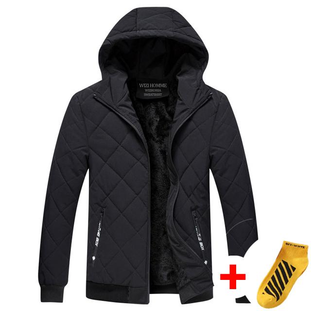 위즈아이 벨벳 후드 누빔 패딩 점퍼 양털 퀄팅 자켓 WI016P+국내발송+양말증정