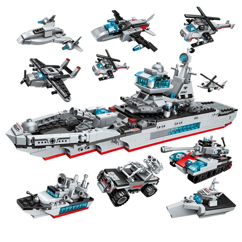 ENLIGHTEN 계몽 중국 레고 호환 8종 변신 합체 이지스 구축함 항공모함 탱크 장난감 어린이 로봇 전차 블럭 블록 자동차 선물 레고호환블록