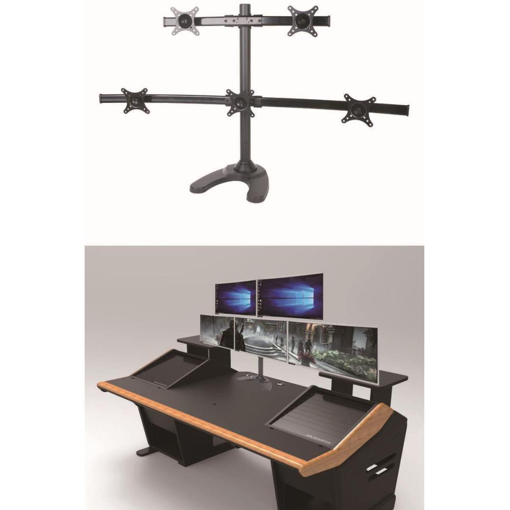 주식 듀얼 모니터 5대 책상 와이드 스탠드 컴퓨터거치대 사무실 PC액세서리 튼튼한 재택근무