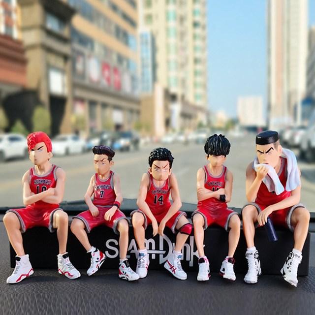 슬램덩크 차량용 주차번호판 - 캐릭터 미니피규어 주차번호 세트