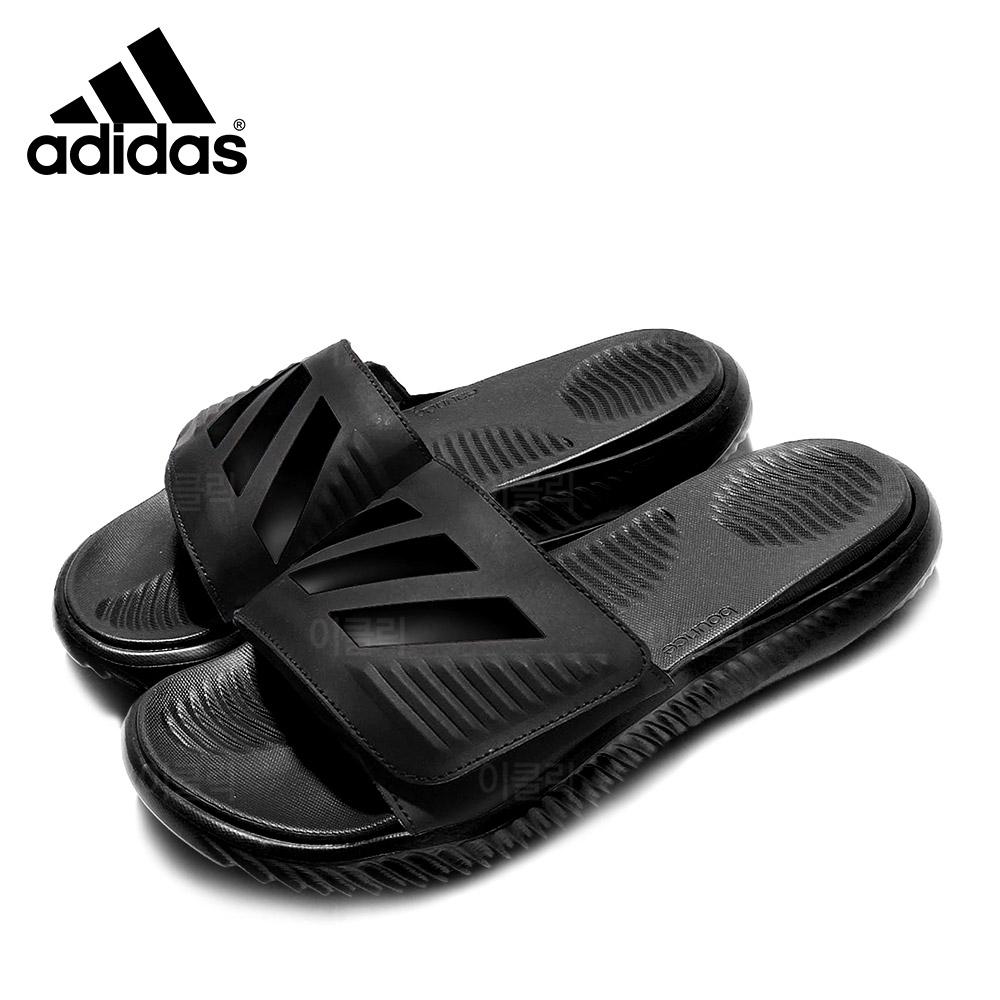 아디다스 알파바운스 슬리퍼 트리플블랙 남자 여름 신발 샌들 슬라이드 벨크로