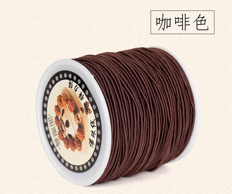 합사라인 구슬꿰미 밧줄 내마모 신축성 선 염주 완상용물건 팔찌, T04-백심 탄력 라인 커피 1.5mm20미터 한권