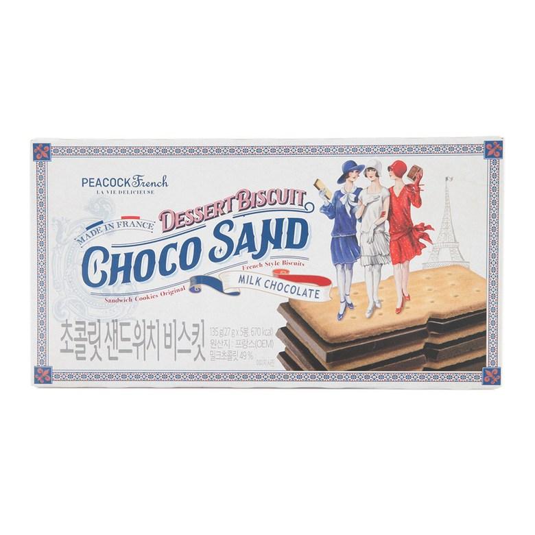 피코크 초콜릿 샌드위치 비스킷 135g, 1개