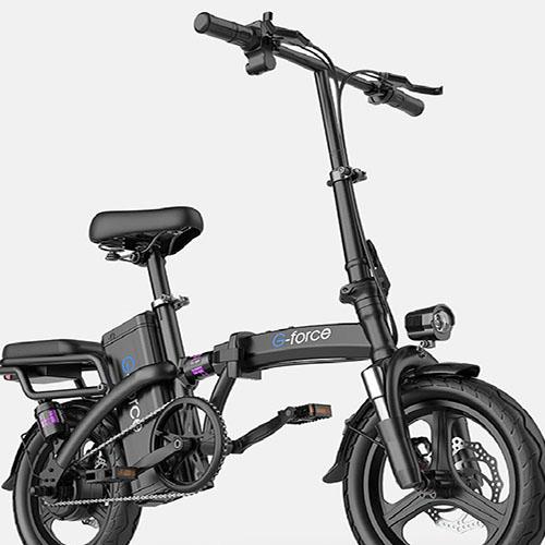 G-FORCE 지포스 스로틀 PAS 접이식 전기 자전거 2인용, 블랙