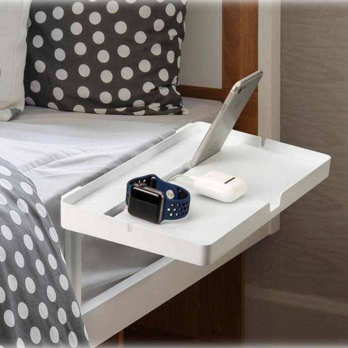 CYK 침대 사이드테이블 폰베드 다용도 메트리스 틈새 보조선반, 화이트(다리길이20cmX15cm) (POP 1748544493)
