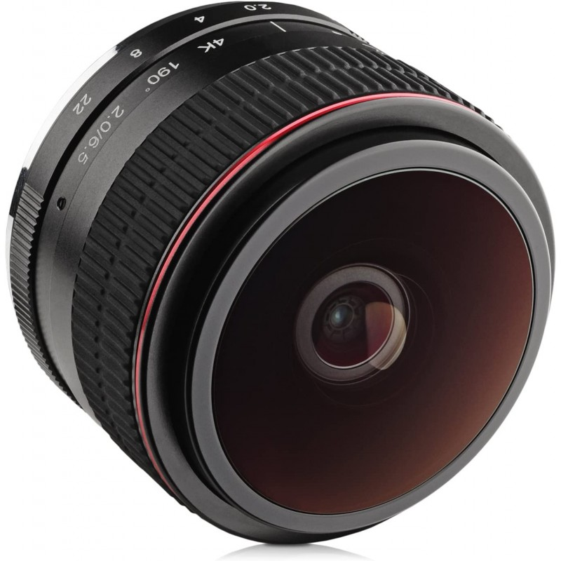 소니 E- 마운트 A6600 A6500 A6400 A6300 A6100 A6000 A5100 A5000 A3000 및 NEX 미러리스 디지털 카메라 용 Opteka 6, 단일옵션