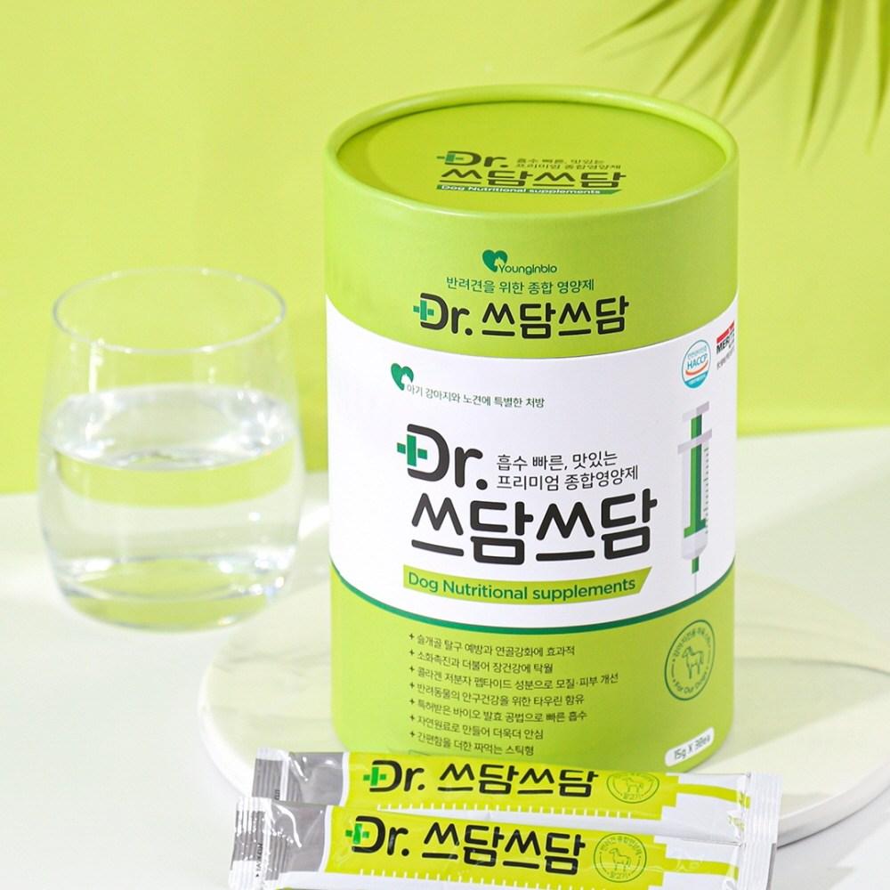 쓰담쓰담 Dr.+ 면역력 강아지 전용 종합영양제 오리맛 말고기맛 츄르 30일분, 30스틱, 강아지 말고기맛