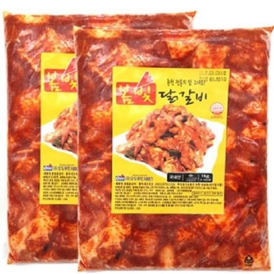 오도푸드 봄빛닭갈비 1kg 2팩 1주일 특가판매