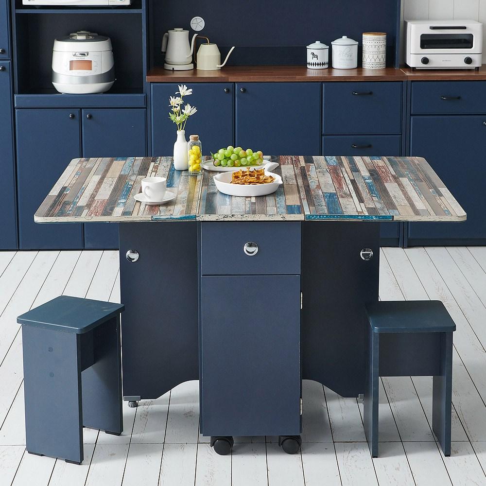 스칸디무드 쿠스토 이동식 확장형 접이식 식탁 테이블, 네이비