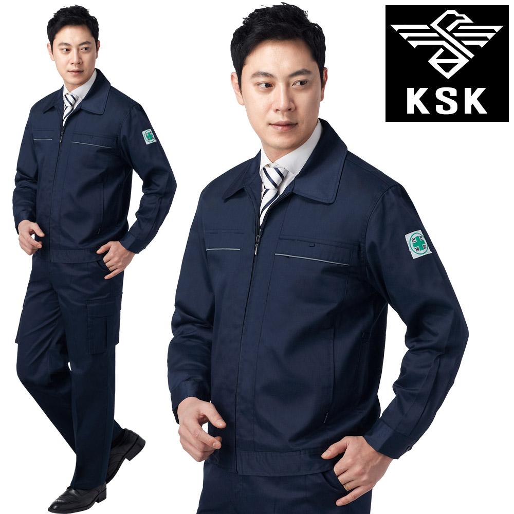 [밀리언샵365] K-506 회사 유니폼 곤색 자켓 반팔 긴팔 바지 2종 개별판매 작업복 정비복 근무복 사무실 단체복 상의 하의