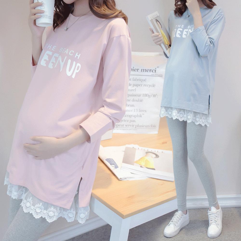 임산부 임부복 셔츠 원피스 여름 봄 상의 프린트 루즈 09호 BMqxqr5