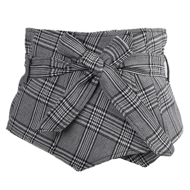 데일리 오피스룩 셔츠 원피스 여성 체크무늬 허리 와이드 벨트 포인트