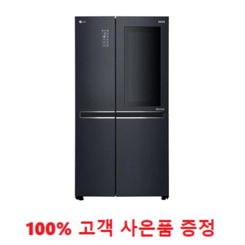 사은품증정/LG 노크온 매직스페이스 냉장고 맨해튼 미드나잇 636L (S631MC75Q) 1666-4175