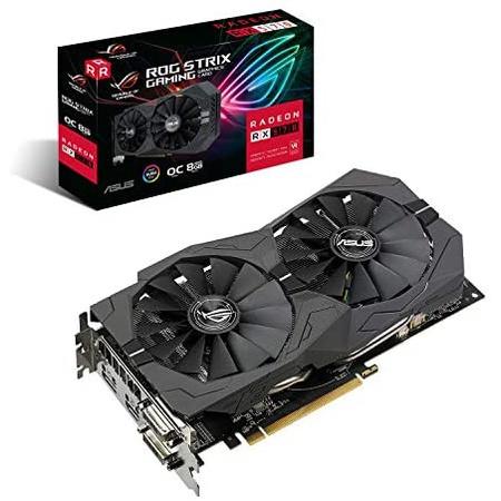 ASUS ROG Strix Radeon RX570 O8G 게이밍 GDDR5 DP HDMI DVI VR Ready AMD 그래픽 카드 (ROG-Strix-RX570-, 상세 설명 참조0