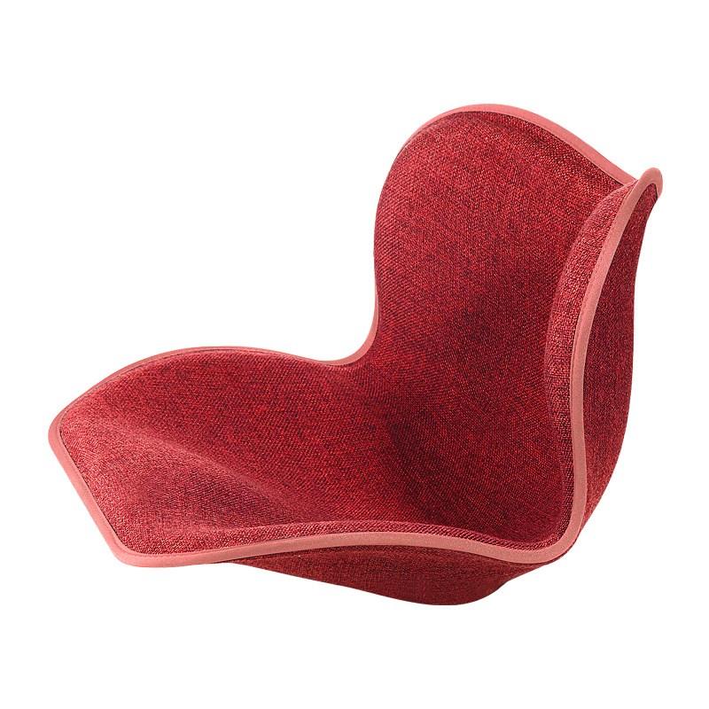 척추측만증 바른 자세 허리 교정 커블 체어 좌식 의자, 레드 와인