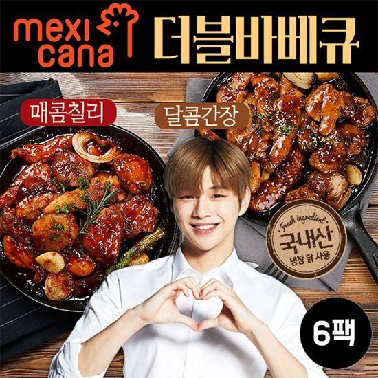 [멕시카나] 순살 더블바베큐 세트6팩, 달콤간장6팩, 상세설명 참조