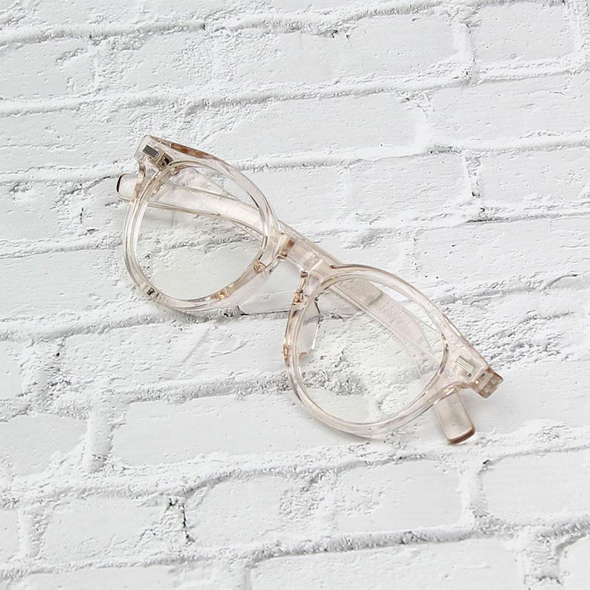 파피시엔젤 남녀공용 라운드 투명뿔테안경