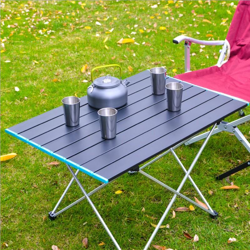 아베나키코모 캠토리탑 마운트리버 고릴라 롤 야외 간편초경량 휴대용 알루미늄 접이식 테이블 자가용 야영야취 식, 작은 41 * 34 * 29cm
