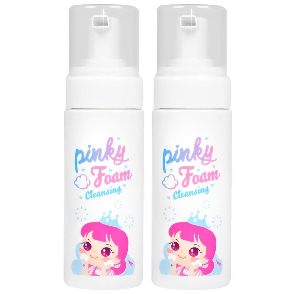 핑크공주 1+1 핑키 키즈 버블 폼클렌징 어린이 약산성 눈안따가운 유아 세안제 150ml, 핑키 버블 폼 클렌징 1+1