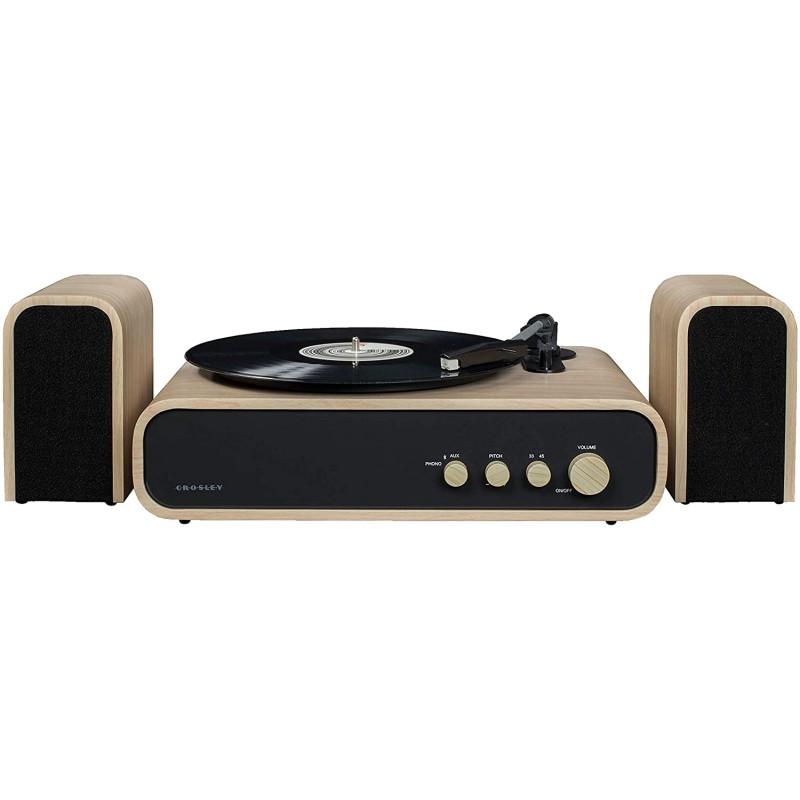 블루투스와 크로슬리 스위치 II 벨트 드라이브 턴테이블 AM / FM 라디오 보조 스피커