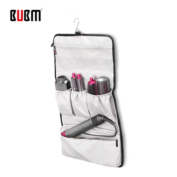 Bubm 다이슨 에어랩 스타일러 컴플리트 전용 걸이식 휴대용 멀티 수납 파우치 포켓, 블랙, bubm에어랩걸이식파우치