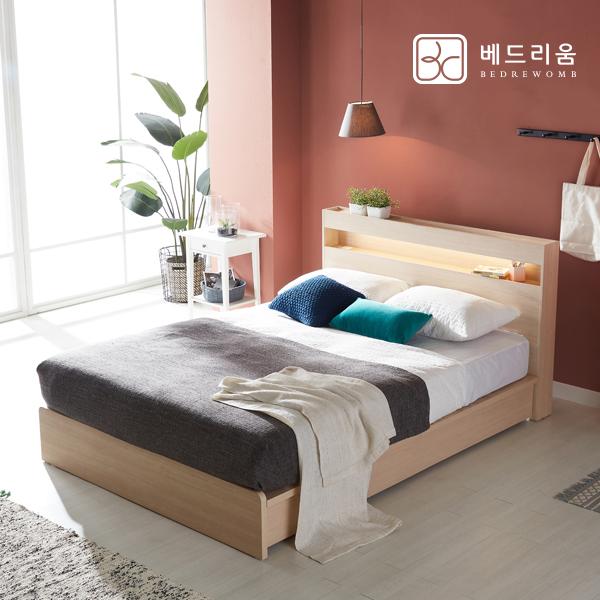 금성침대 시그널 LED 침대Q-3D독립 살루스양모, 메이플