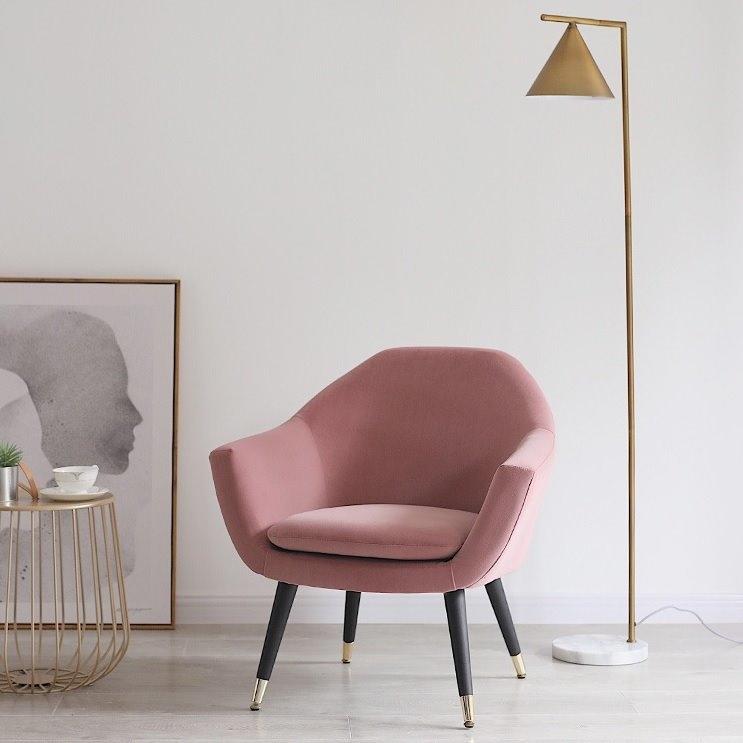 돈체어 1인용 카페의자 암체어, 핑크