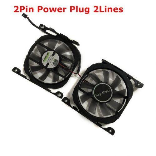 [해외] 2 CF12815S GPU VGA 더 시원해 그래픽 팬 한 ELSA GEFORCE RTX 2070 S.A.C GTX 1060 GTX 970 GTX 960 GTX760770, 2Pin CF-12815S