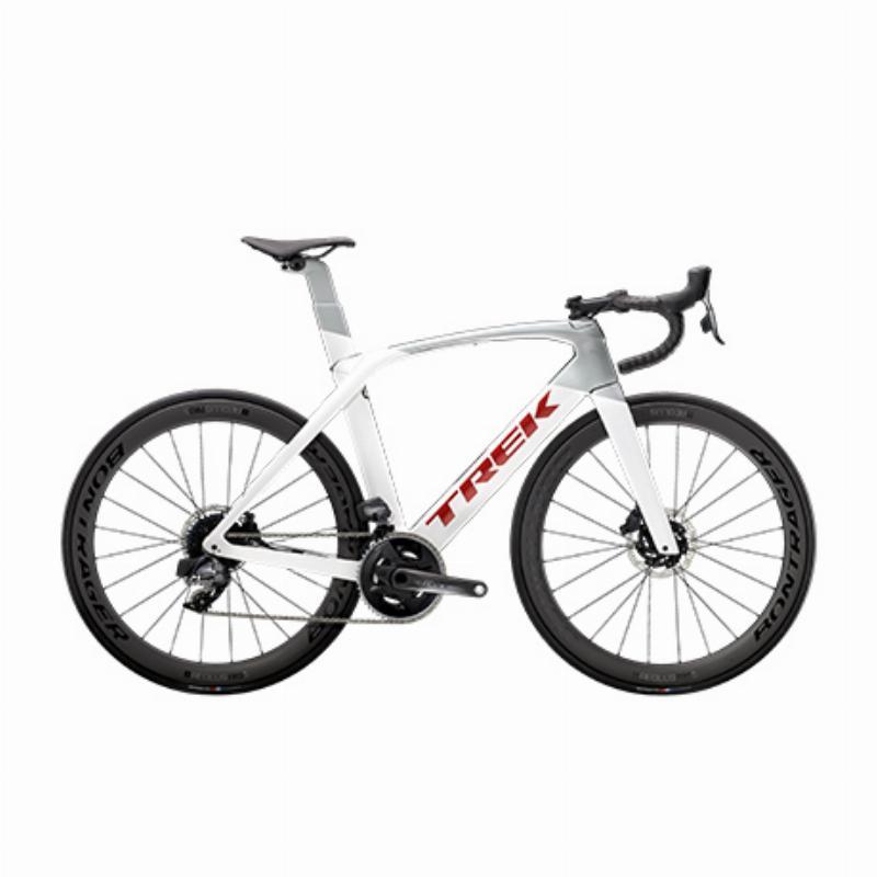 TREK Trek Madone SL 7 eTap 탄소 섬유 디스크 브레이크 경쟁 등급 에어로로드 자전거, 크리스탈 화이트  실버 60CM
