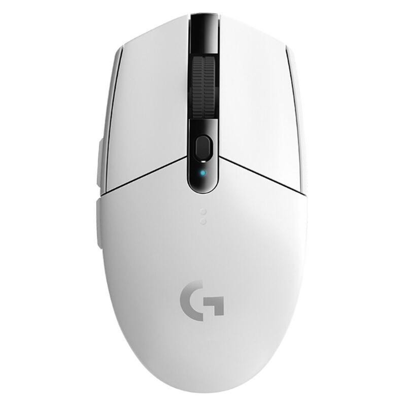 로지텍 마우스 G304 G90 컴퓨터 게임용 LOL PUBG FORTNITE OVERWATCH CSGO 게이머 용 2.4G 무선 영웅 엔진, G304 White