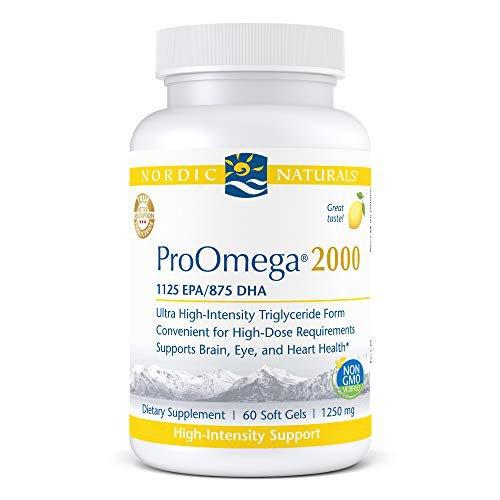 혈관에좋은영양제 수족냉증 혈행 개선 노르딕 내추럴스 프로오메가 2000 레몬 맛 2150 mg 오메가360 소프트젤 울트라 고효능 피시 오일 EPA 및 DHA 뇌 눈 심장 면역, 60 카운트 (1 팩)