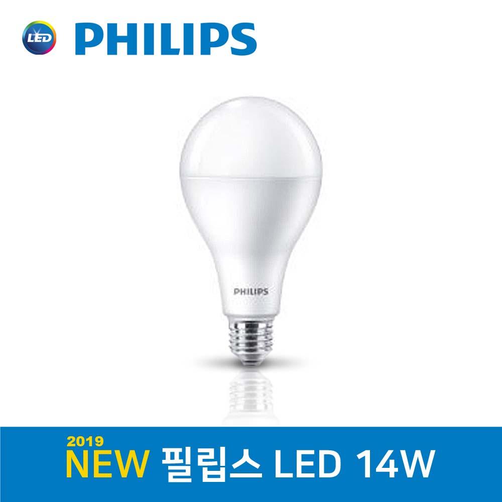 필립스 LED 전구 14W 전구색 주광색, 1개
